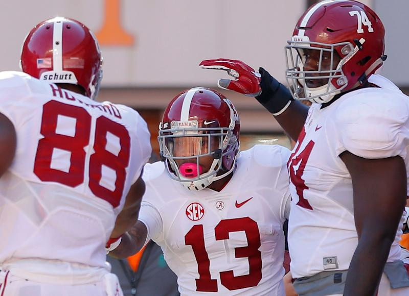 Alabama rushed for 418 yards vs. Tennessee. (Getty)