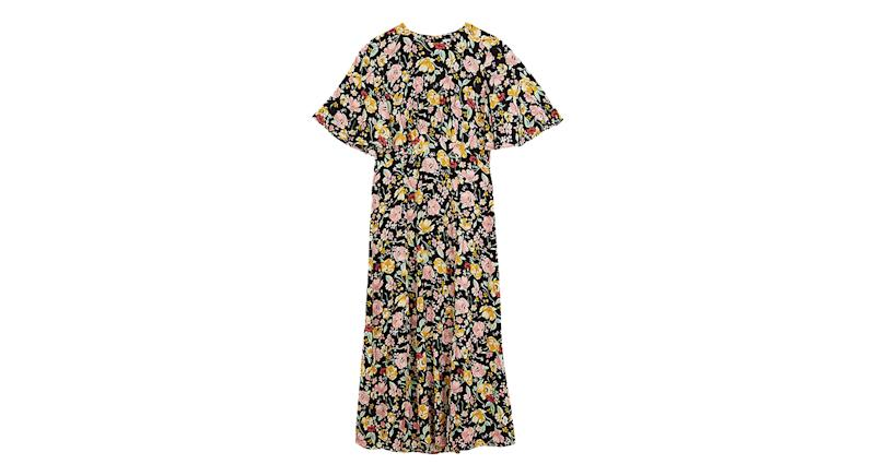 Warehouse Riviera Floral Print Midi Dress