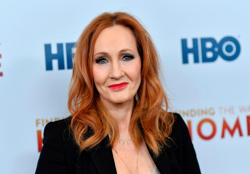 JK Rowling has sparked controversy over her use of a trans woman as the villain in her latest novel Troubled Blood (ANGELA WEISS/AFP via Getty Images)