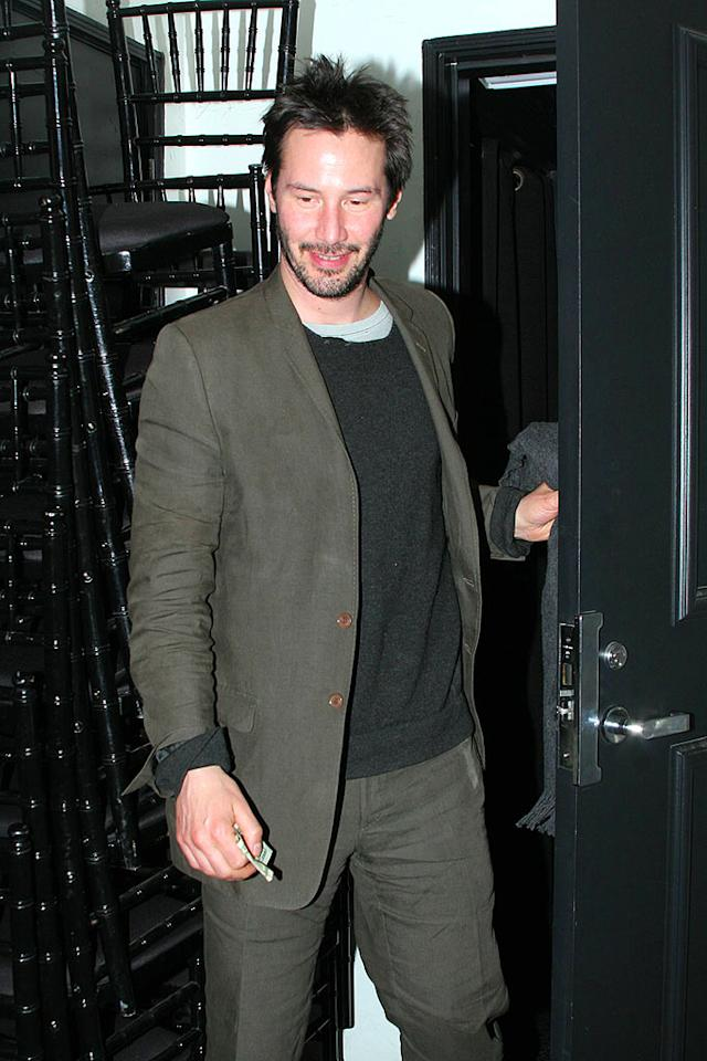 "Keanu Reeves steps out with his new girlfriend in West Hollywood. The duo dined at Comme Ca, a modern brasserie that serves traditional French bistro fare. VWR/<a href=""http://www.x17online.com"" target=""new"">X17 Online</a> - April 1, 2008"