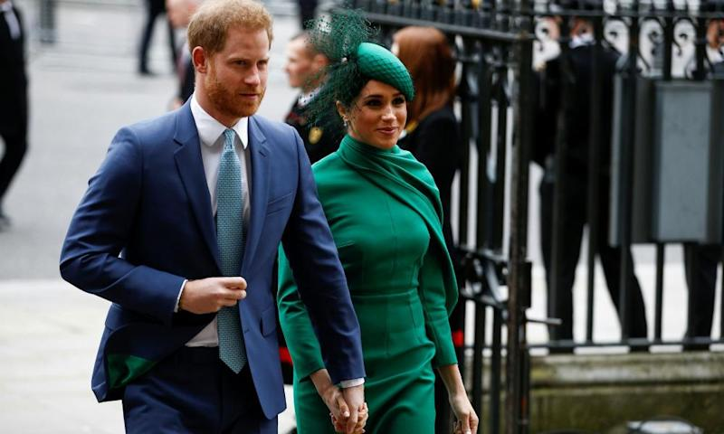 FILE PHOTO: Annual Commonwealth Service at Westminster Abbey in LondonFILE PHOTO: Britain's Prince Harry and Meghan, Duchess of Sussex, arrive for the annual Commonwealth Service at Westminster Abbey in London, Britain March 9, 2020. REUTERS/Henry Nicholls/File Photo
