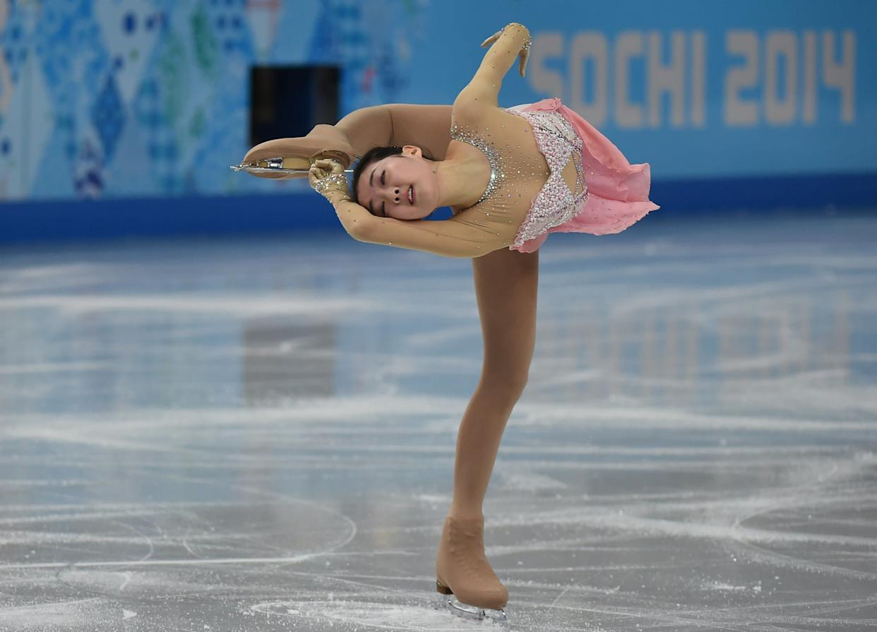 China's Li Zijun performs in the Women's Figure Skating Free Program at the Sochi Winter Olympics.