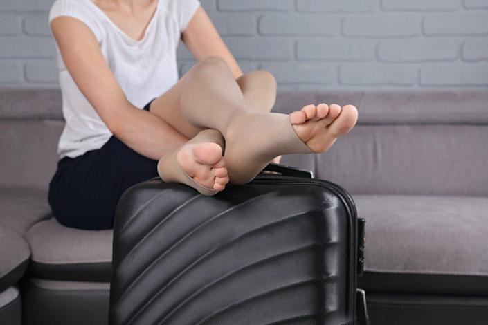 Compression Stockings Thigh during flight