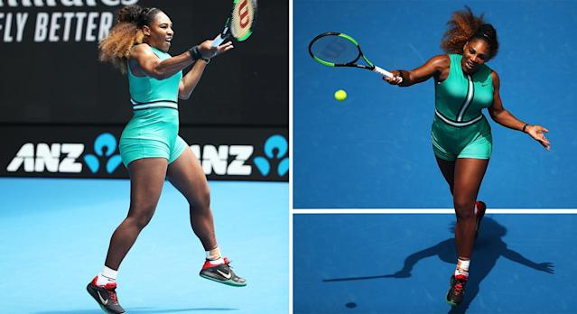 Serena Williams looked amazing in her custom-made Nike outfit. [Photo: Getty]