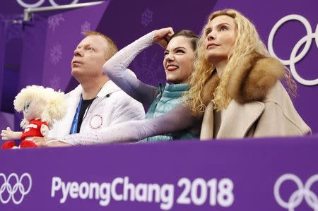 Figure Skating - Pyeongchang 2018 Winter Olympics - Ladies Single Skating Short Program - Gangneung, South Korea - February 21, 2018 - Evgenia Medvedeva, an Olympic Athlete from Russia, reacts to her score. REUTERS/John Sibley