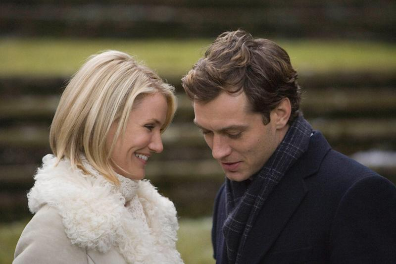 Heart-warming: Cameron Diaz and Jude Law in the festive romance (UIP)