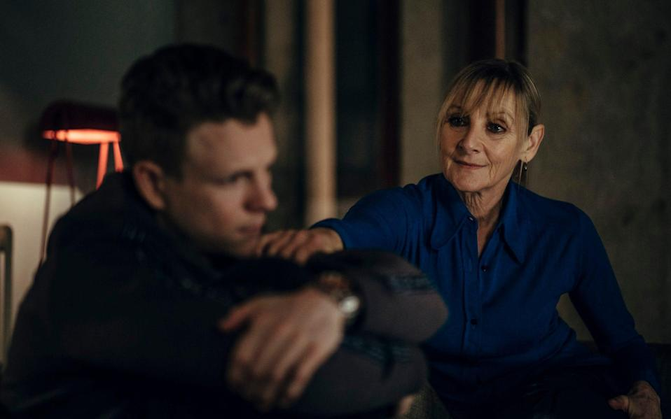 Sharp as detective Hannah Laing, opposite Patrick Gibson as her son Christian, in the new show - Sofie Gheysens