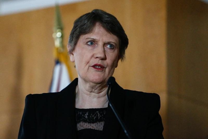 Former New Zealand Prime Minister Helen Clark speaks during a press conference at Permanent Mission of New Zealand to the United Nations in New York on April 4, 2016