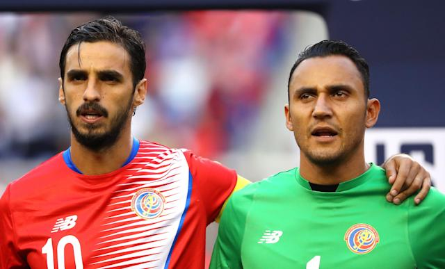 Bryan Ruiz and Keylor Navas will be the on-field and off-field leaders for Costa Rica at the 2018 World Cup. (Getty)