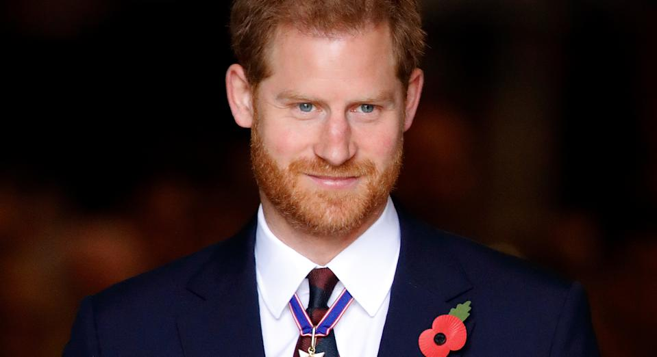 Prince Harry is marking Remembrance Sunday from his home in LA. (Getty Images)