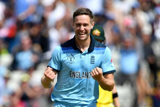 England's Chris Woakes was man-of-the-match in the World Cup semi-final against Australia (AFP Photo/Paul ELLIS)