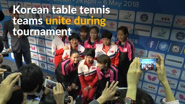 The two Koreas will field a combined team in the table tennis world championships semi finals after the nations decided not to compete against each other in the quarter-finals.