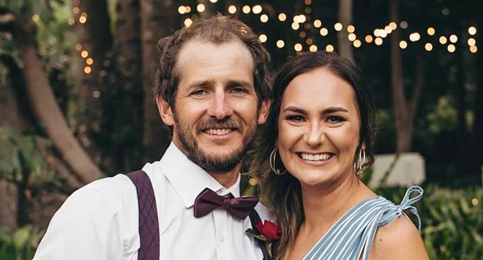 A supplied image obtained on Monday, February 8, 2021, of Brisbane couple Kate Leadbetter, Matt Field, who died after being struck by an allegedly stolen car at Alexandra Hills on Australia Day. Source: AAP