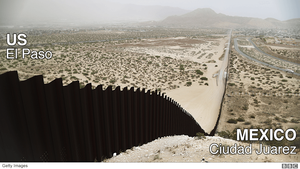 The US-Mexico border barrier