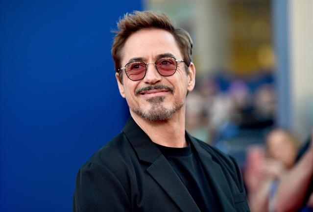 "Robert Downey Jr. attends the premiere of Columbia Pictures' ""Spider-Man: Homecoming"" at TCL Chinese Theatre on June 28, 2017 in Hollywood, California."