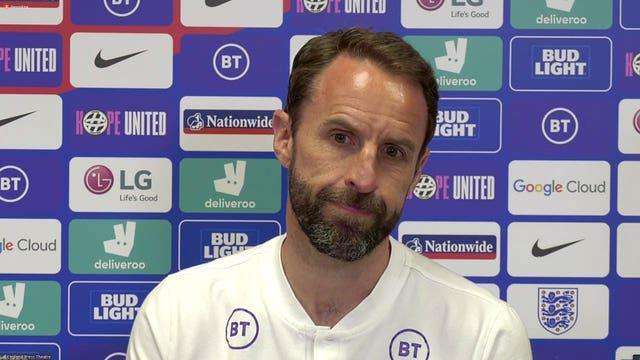 Gareth Southgate during the pre-match press conference