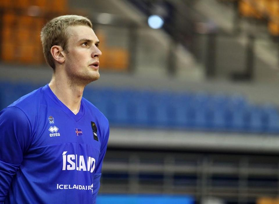 Tryggvi Hlinason first played competitive basketball four years ago. Now the son of Icelandic sheep farmers is on the NBA's radar entering Thursday's draft. (photo via FIBA)