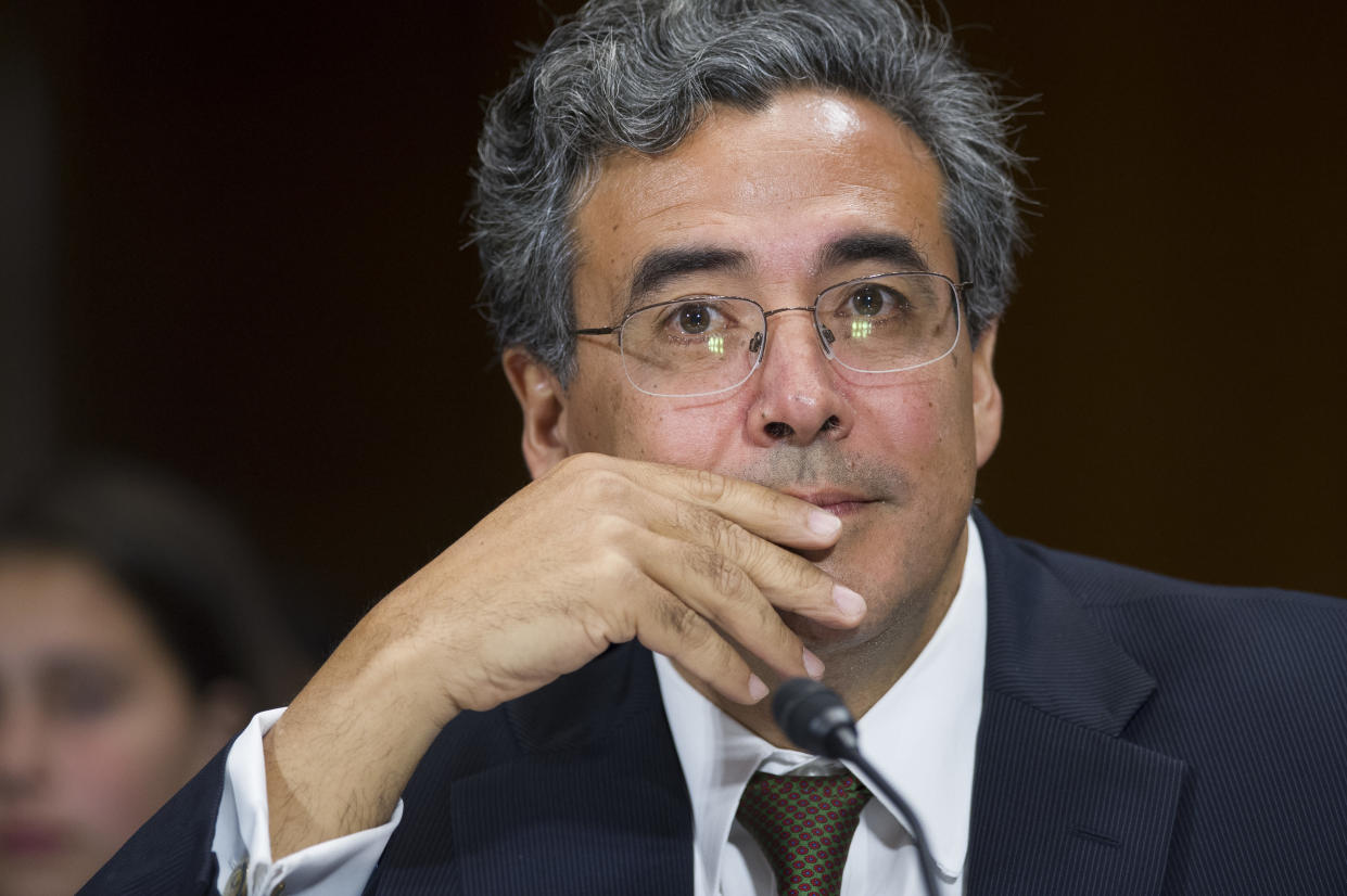 Solicitor General nominee Noel Francisco testifies at the Senate Judiciary Committee's hearing on his nomination, Wednesday, May 10, 2017. (Photo: Cliff Owen/AP)