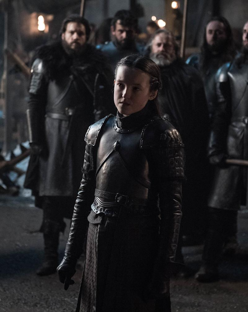 Bella Ramsey as Lyanna Mormont in <i>Game of Thrones</i>. (Photo: Helen Sloan/HBO)
