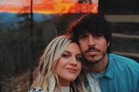 "<p>The married country singers are on a socially distanced trip to a cabin in Tennessee's Great Smoky Mountains in order to unplug and ""<a href=""https://www.instagram.com/p/CJoUxqIl9rn/"" rel=""nofollow noopener"" target=""_blank"" data-ylk=""slk:reset"" class=""link rapid-noclick-resp"">reset</a>."" According to Ballerini, her ""word of 2021 is 'healthy,'"" as she hopes to focus more on her physical and emotional well-being this year. </p>"
