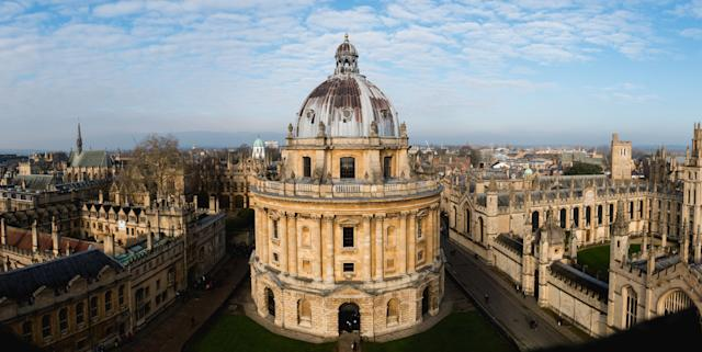 View of the Oxford University campus from above. Photo: Getty