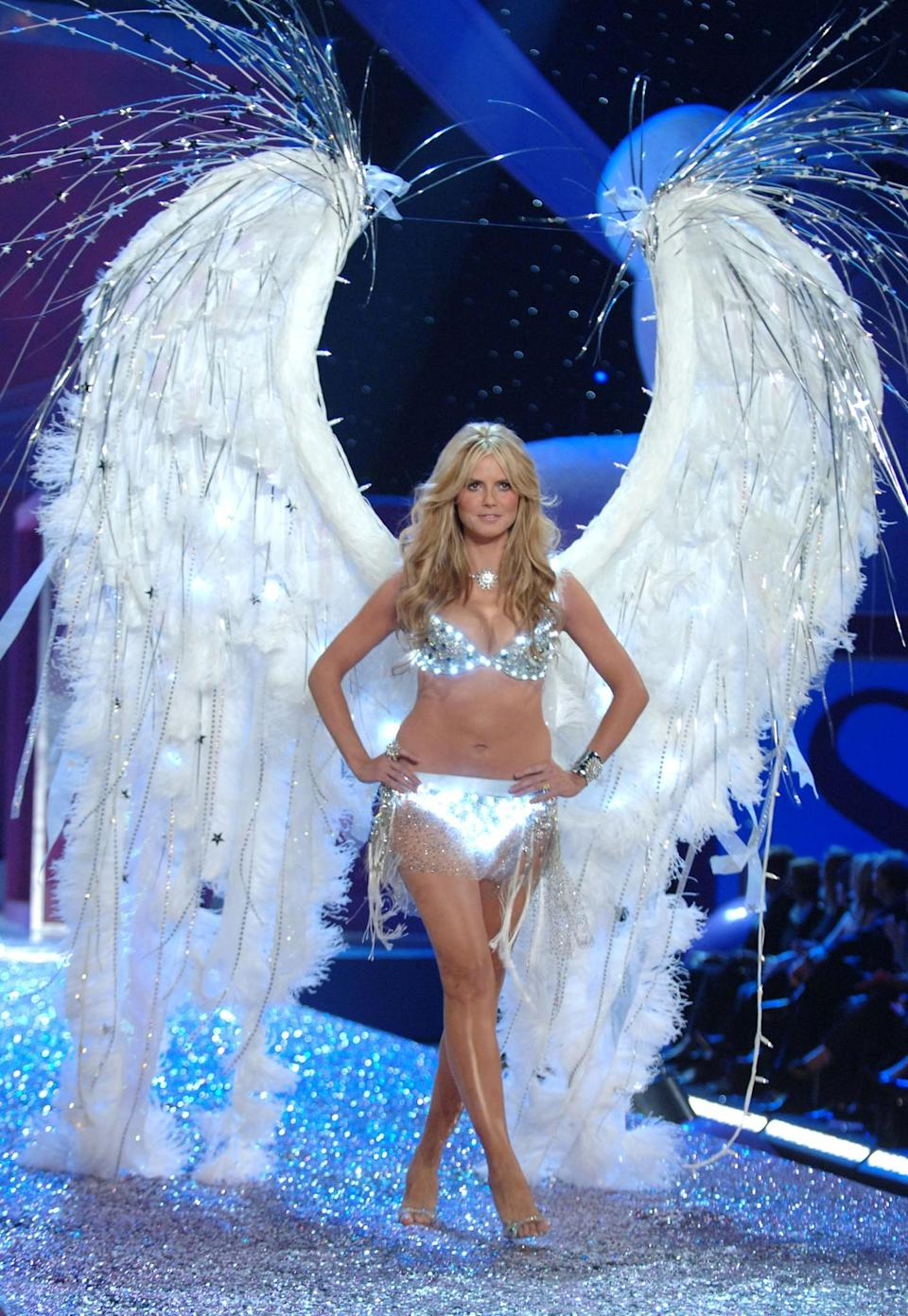 <p>That time Heidi Klum's knickers glowed has got to be one of our top five moments. [Photo: Getty] </p>