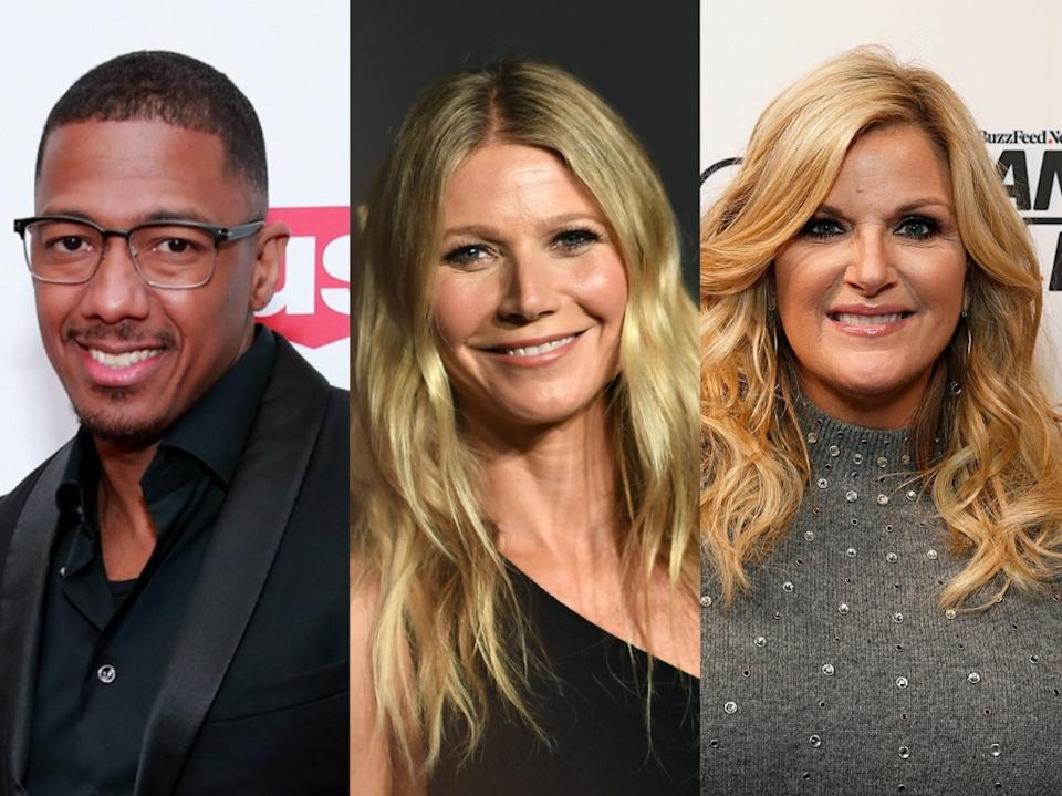 Nick Cannon, Gwyneth Paltrow and Trisha Yearwood have all had COVID-19. (Photo: Getty Images)