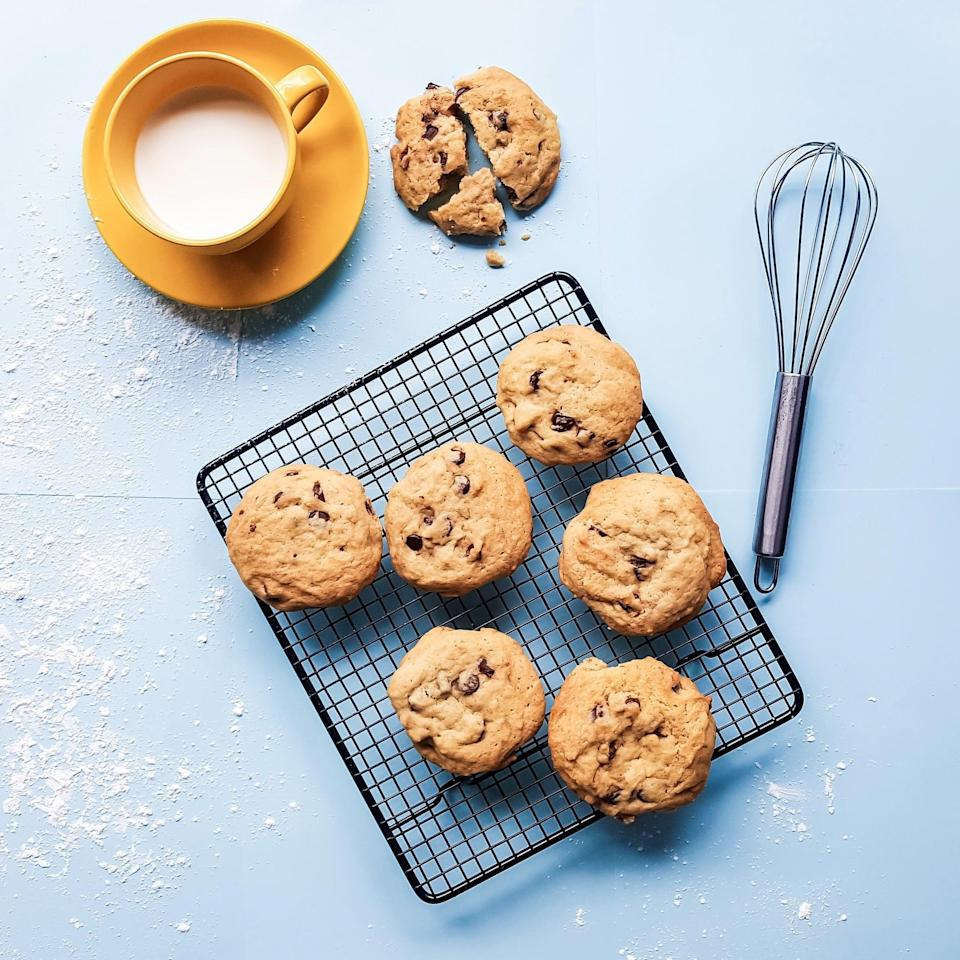 """<p>The best part about having a baking day is that you can stay in your pajamas and eat the results! Ask your friends to bring over their <a href=""""https://www.popsugar.com/food/Muffin-Tin-Recipes-37582493"""" class=""""link rapid-noclick-resp"""" rel=""""nofollow noopener"""" target=""""_blank"""" data-ylk=""""slk:favorite recipes"""">favorite recipes</a> and host a bake-off. And if you end up baking too much, share some with your neighbors, coworkers, or your local community shelter. Happy baking!</p>"""