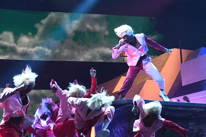 Tyler, the Creator performs onstage during the 62nd Annual GRAMMY Awards at STAPLES Center on January 26, 2020 in Los Angeles, California. | Getty Images for The Recording A—2020 The Recording Academy