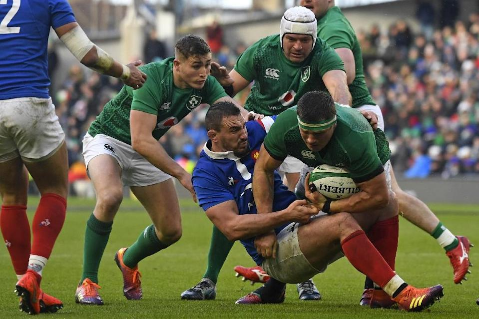 Ireland coach Joe Schmidt said getting the bonus point against France after failing to impress in their three previous games, is just the tonic they needed (AFP Photo/DAMIEN MEYER)