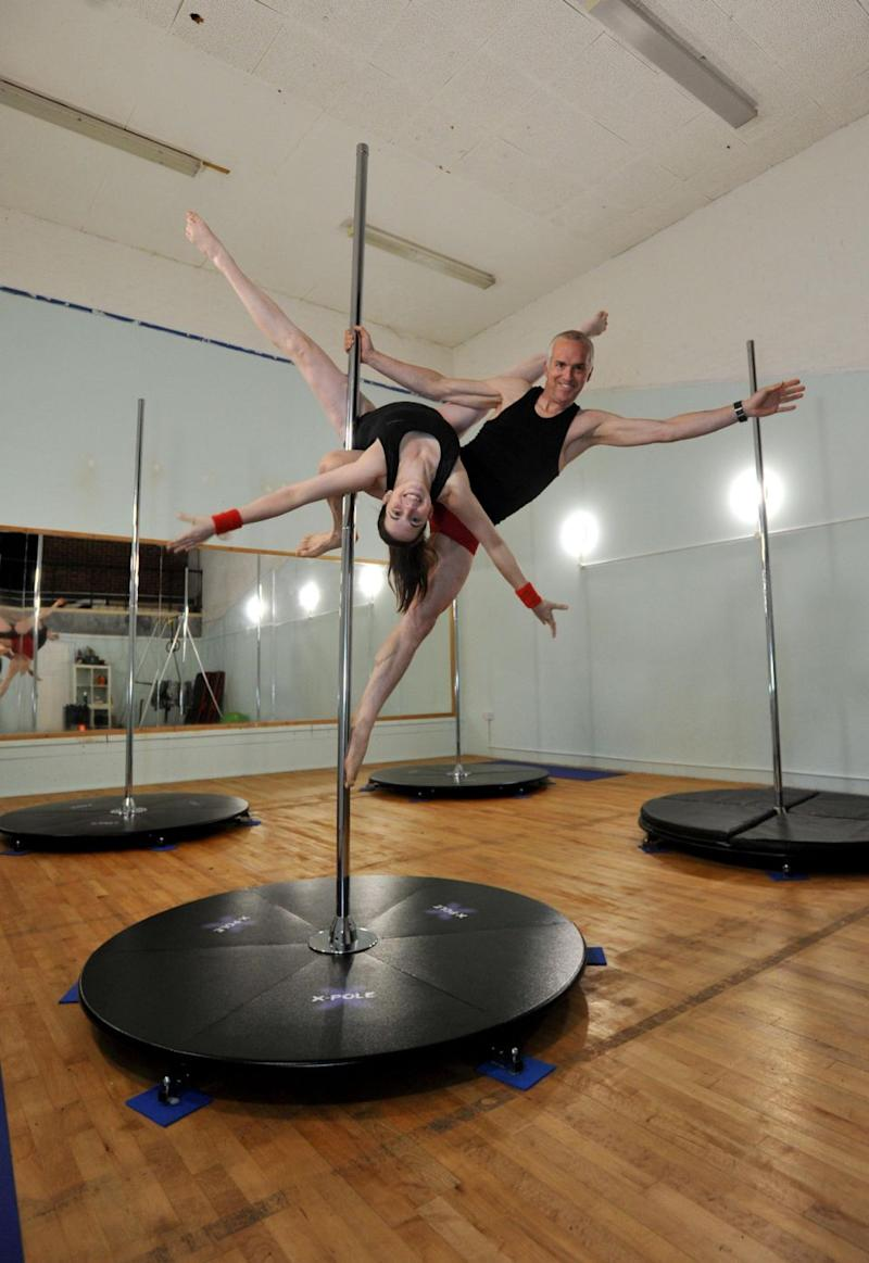 Dave and Hazel focus more on the gymnastics of pole dancing than the raunchy aspect to it. Photo: SWNS