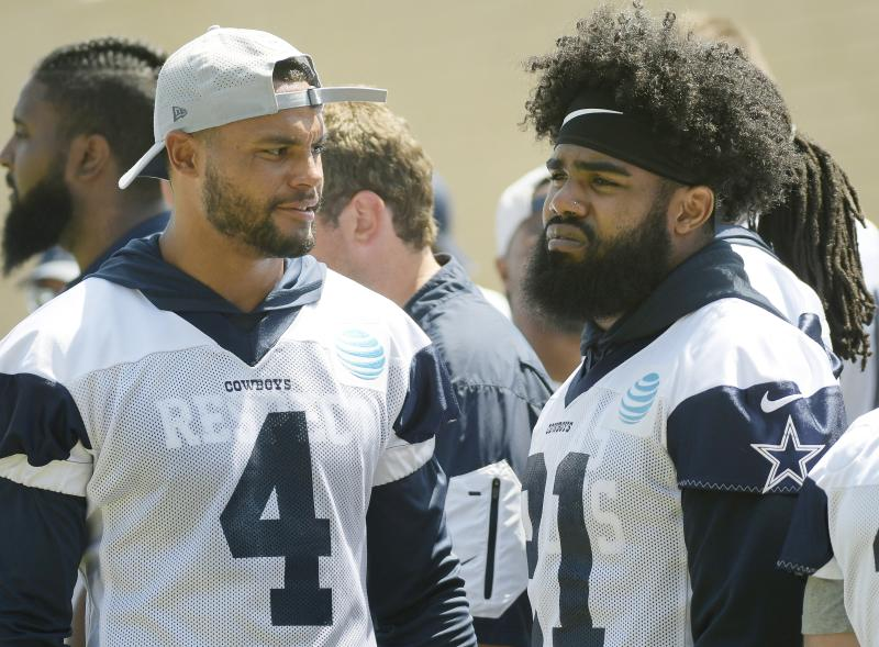 Cowboys management used Jaylon Smith's press conference Wednesday as a weapon in their public contract disputes. (Getty)