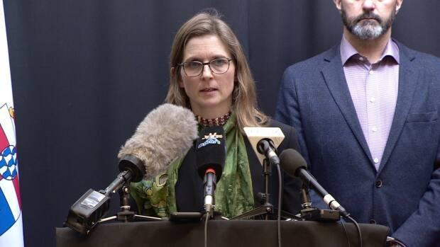 Catherine Elliott, Yukon's acting chief medical officer of health, announced two Delta variant cases this week. (Steve Silva/CBC - image credit)