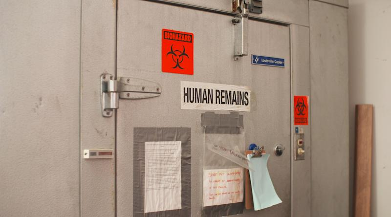 Charleston Mortuary Services ships the bodies of those who died from apparent drug overdoses to themorgue for autopsy and then on to a funeral home. (Quincy Ledbetter/HuffPost)