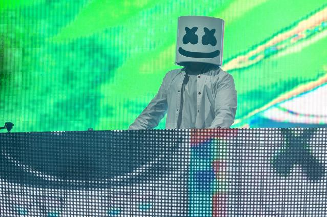 <p><strong>No. 8: Marshmello</strong><br><strong>Earnings this year: $21 million</strong><br>This DJ and producer's identity is unknown as he performs behind a white marshmallow mask. His 2017 track <em>Alone</em> made it onto the <em>Billboard</em> Hot 100 chart. <em>Forbes</em> reports that while he takes home a healthy paycheques from live shows, he also earns more than other DJs through music and merchandise.<br>(Canadian Press) </p>