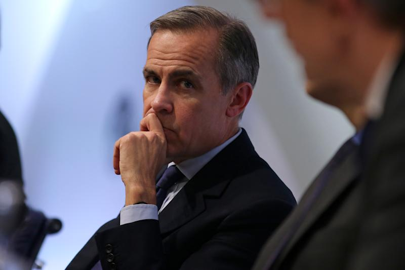 Governor of the Bank of England Mark Carney during the Bank of England's financial stability report at the Bank of England in the City of London.