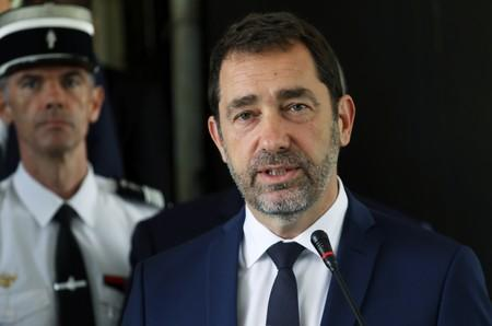 FILE PHOTO: French Interior Minister Christophe Castaner speaks during a joint news conference with Ivory Coast security minister Sidiki Diakite in Abidjan