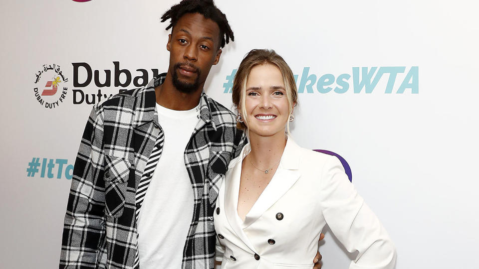 Elina Svitolina and Gael Monfils, pictured here in Dubai in June.
