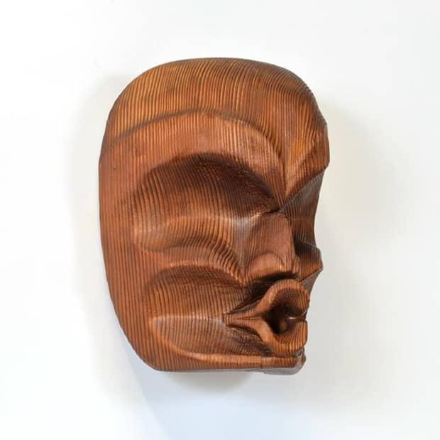 A red cedar mask, Dsonakwa, carved by Ellen Neel in 1955.  (Courtesy of the Lattimer Gallery  - image credit)