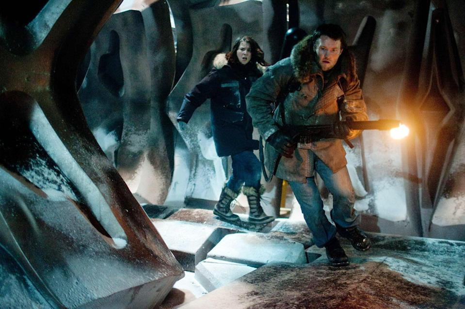 """<p>In the middle of a snowstorm, a team of pilots and scientists explore the ruins of an alien crash site. From there, they quickly discover someone or something is killing them off one by one. <a href=""""https://www.rottentomatoes.com/m/the_thing_2011"""" class=""""link rapid-noclick-resp"""" rel=""""nofollow noopener"""" target=""""_blank"""" data-ylk=""""slk:While this remake tries to surpass the original"""">While this remake tries to surpass the original</a>, critics pointed out that it lacked a few key aspects of a good horror film. Although the audience thought it was a solid remake.</p> <p><a href=""""https://www.amazon.com/gp/video/detail/amzn1.dv.gti.6ca9f754-c3ac-c1f2-b4db-0a7fd790a590?autoplay=1&amp;ref_=atv_cf_strg_wb"""" class=""""link rapid-noclick-resp"""" rel=""""nofollow noopener"""" target=""""_blank"""" data-ylk=""""slk:Watch The Thing on Amazon Prime"""">Watch <strong>The Thing</strong> on Amazon Prime</a>.</p>"""