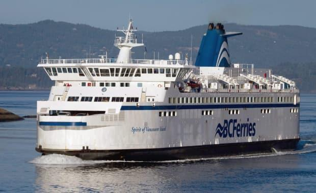BC Ferries has apologized after a 'scheduling error' led to dozens of customers booking trips on a vessel that was never coming. Ferry in picture is not necessarily the same vessel used on the route the story focuses on. (Darryl Dyck/Canadian Press - image credit)