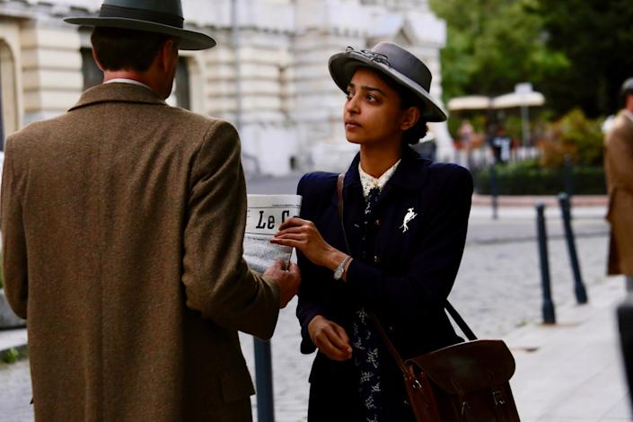 """I spy with my little eye: Radhika Apte plays Noor Inayat Khan, one of the first female British spies to operate in Nazi-occupied France during World War II, in """"A Call to Spy."""" <span class=""""copyright"""">(IFC Films)</span>"""