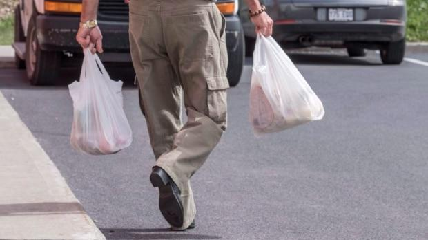 You will still be able use plastic bags for some items such as bulk foods and vegetables.   (Paul Chiasson/The Canadian Press - image credit)
