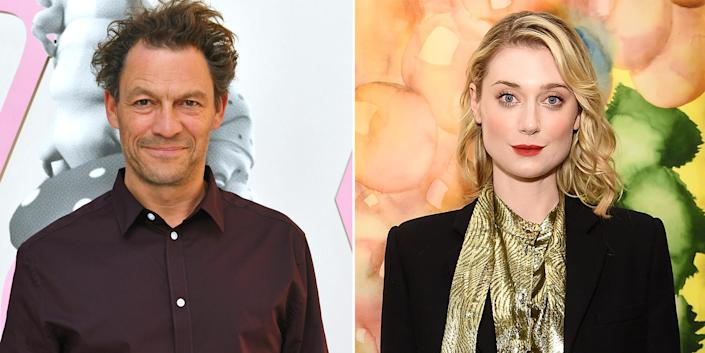 Dominic West and Elizabeth Debicki. (Getty Images)