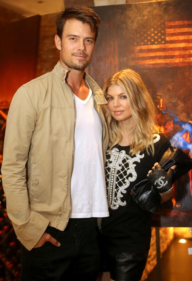 "BEVERLY HILLS, CA - SEPTEMBER 19:  Actor Josh Duhamel and Singer Fergie attend CARTELART presents ""Mutual Consent"" Featuring: Jordi Molla, Antonio del Prete, Mark Evans And Harry Abbouon September 19, 2012 in Beverly Hills, California.  (Photo by Rachel Murray/WireImage)"