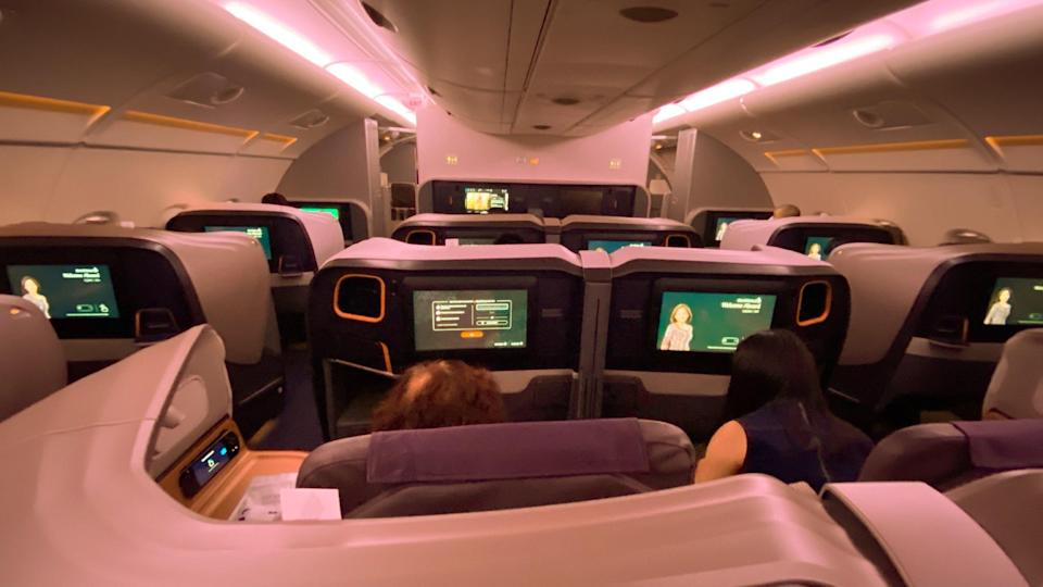 The Business Class seats. Photo: Coconuts