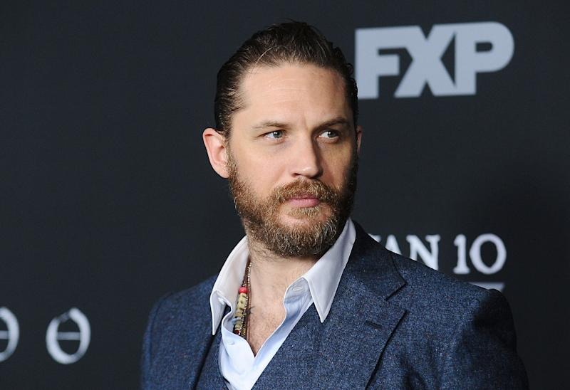 "Tom Hardy attends the premiere of ""Taboo"" on January 9, 2017. (Photo by Jason LaVeris/FilmMagic)"