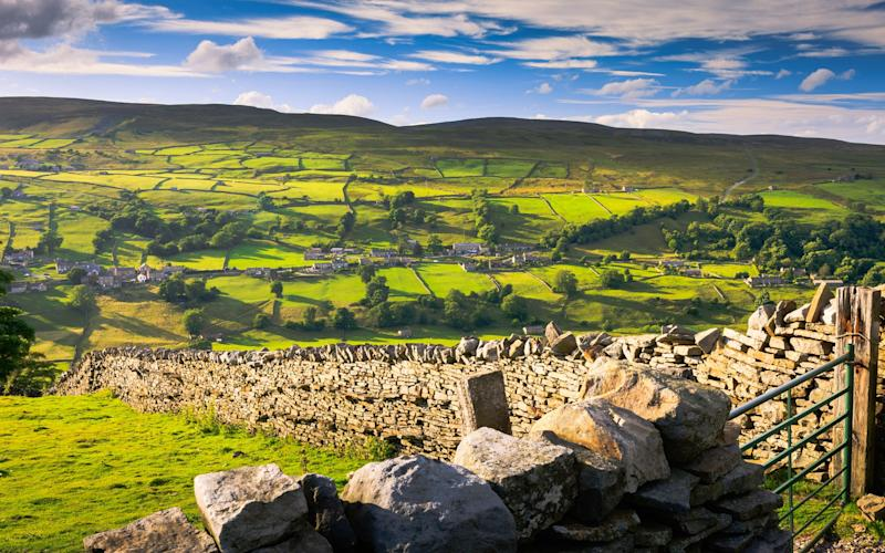 Yorkshire thrills with two National Parks: the sheep-and-dry-stone-wall-dotted Dales (pictured) and the wild and horizon-stretching North York Moors - © 2013 chris warren