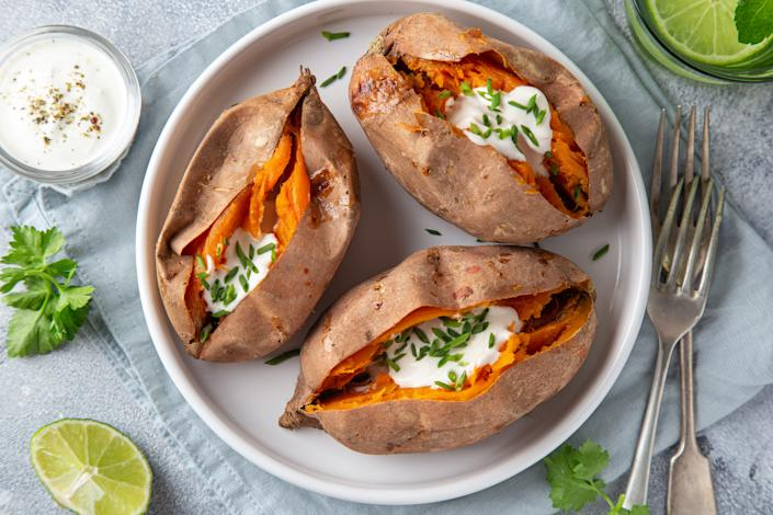 sweet baked potato