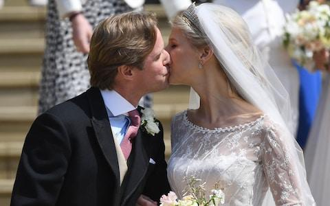 Lady Gabriella Windsor and Mr Thomas Kingston at St George's Chapel - Credit: Andrew Parsons/i-Images Picture Agency